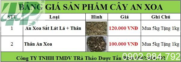 bảng giá an xoa tại Ninh Thuận chất lượng