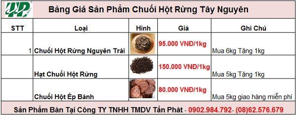 Bảng giá mua bán chuối hạt rừng tại Tân Bình giao hàng nhanh