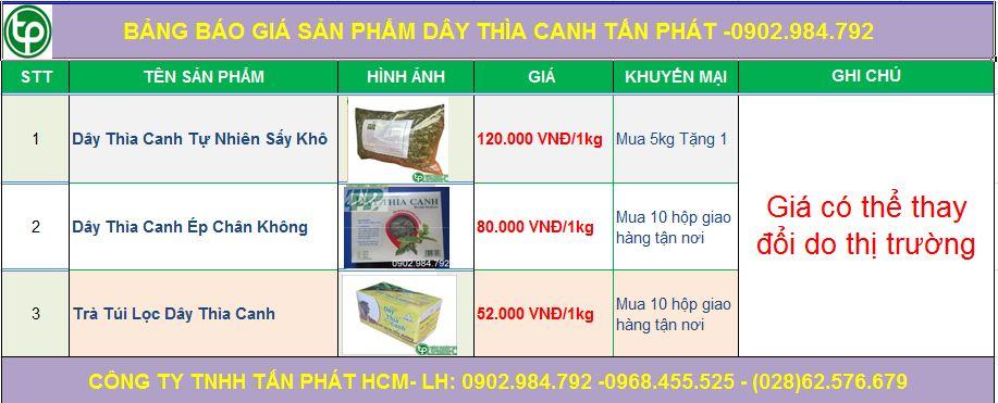 Bảng giá mua bán dây thìa canh tại Bắc Ninh giao hàng nhanh