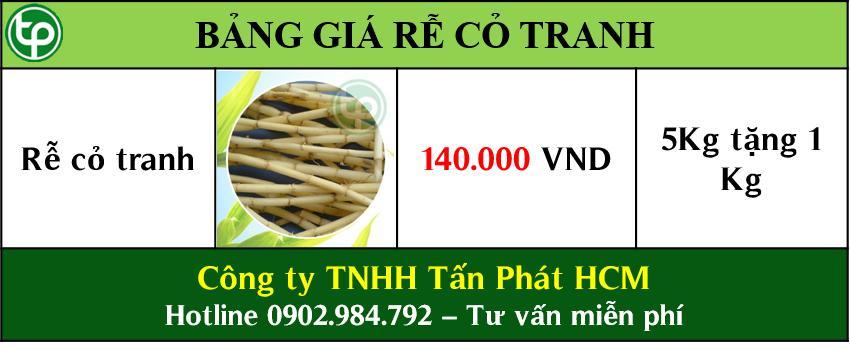 giá bán rễ cỏ tranh tại tphcm