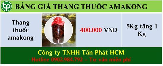 Bảng giá bán thang thuốc amakong tại tphcm