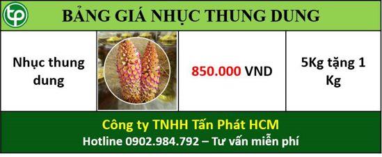 Bảng giá bán nhục thung dung tại tphcm